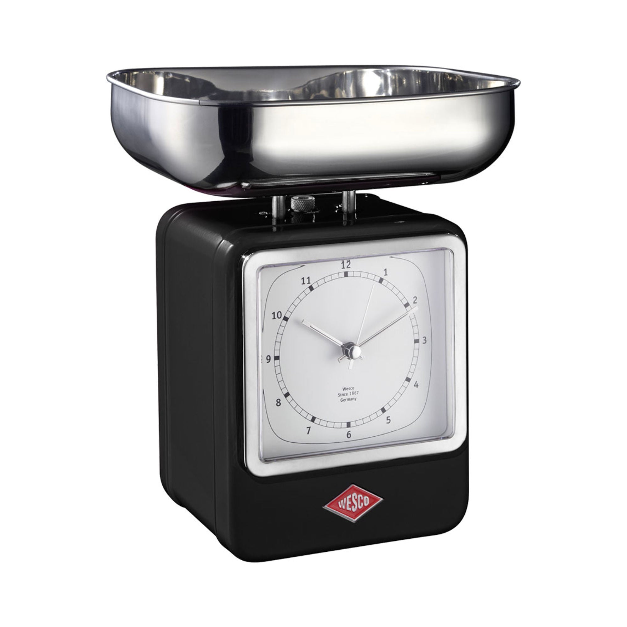 Wesco Retro Scale w. Clock , Black