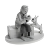 Tintin In Crab With The Golden Claws B&W Figure