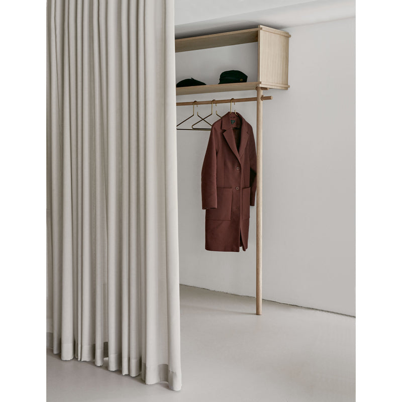 Woud Tojbox Large Wardrobe , White Pigmented Oak