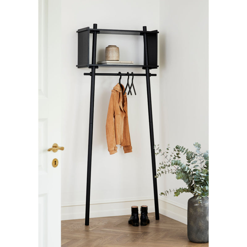 Woud Tojbox Small Wardrobe , Black Painted Oak
