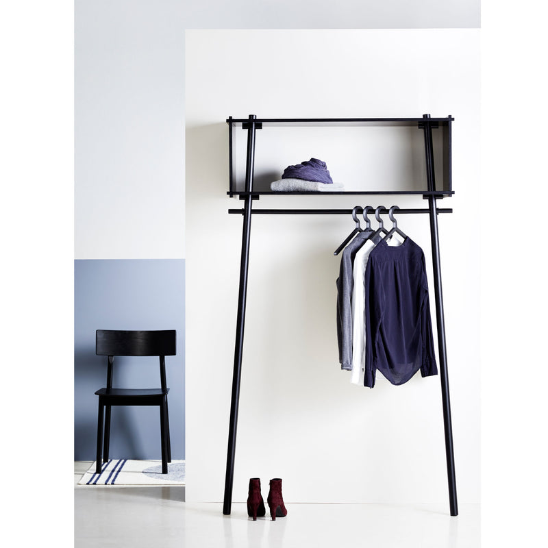 Woud Tojbox Large Wardrobe , Black Painted Oak