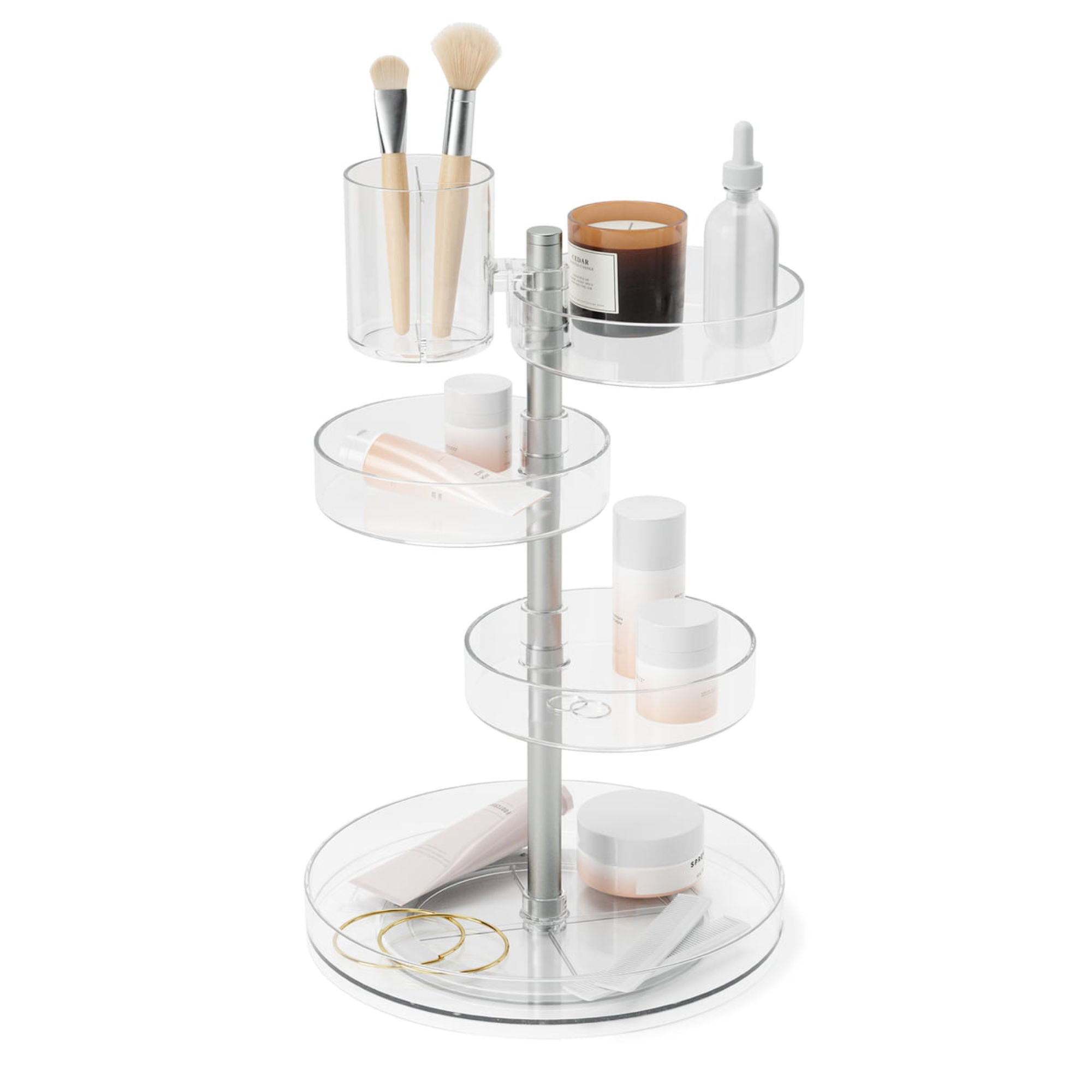 Umbra Pirouette Organizer , Clear/Nickel