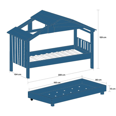 Mathy By Bols STAR Treehouse Pull-Out Bed , Atlantic Blue