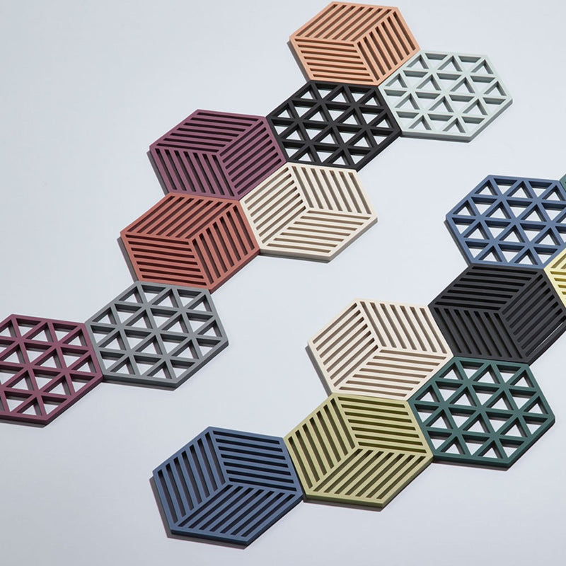 Zone Denmark Shell Hexagon Trivet , Cool Grey
