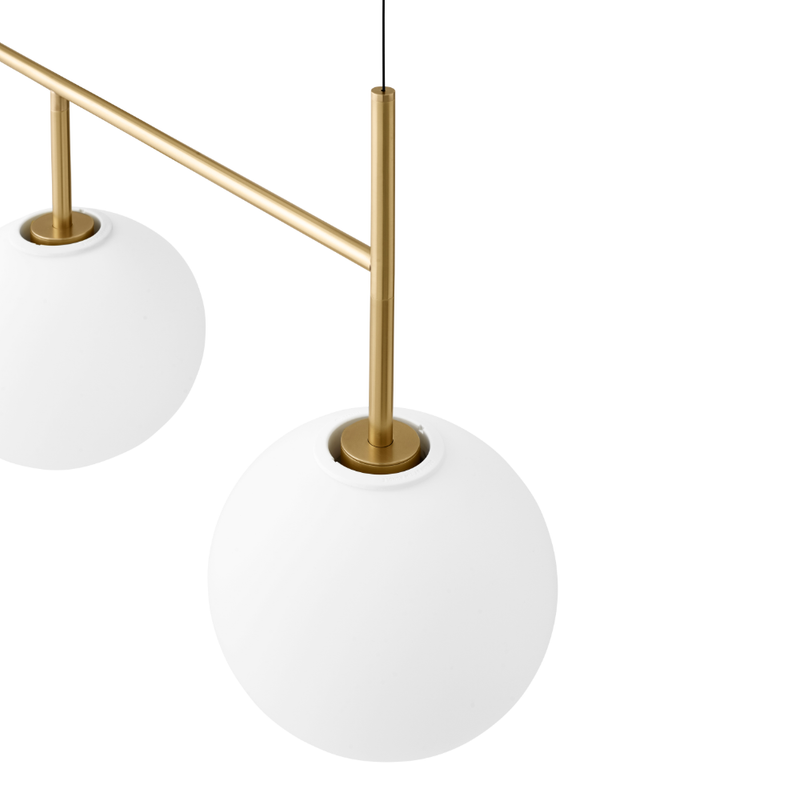 Menu TR Bulb Suspension Frame Pendant Lamp Brushed Brass 125x45cm
