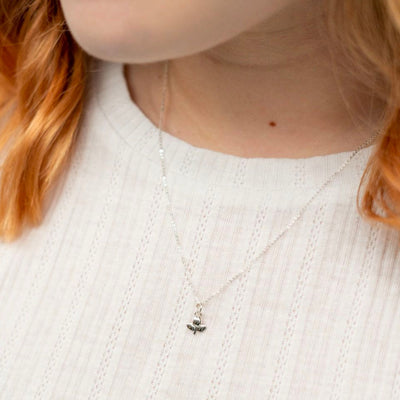 Miffy Sterling Silver Necklace , Tulip Necklace