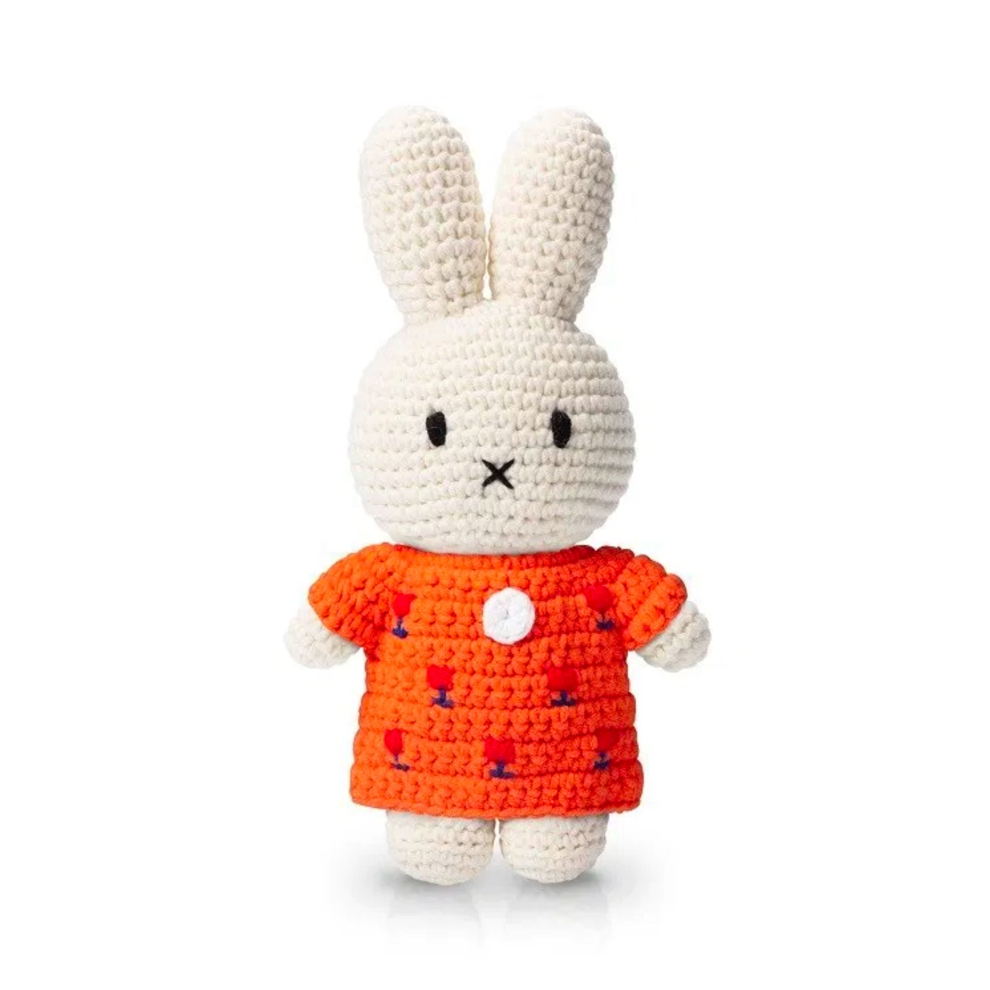 Just Dutch handmade doll, Miffy and her orange tulip dress