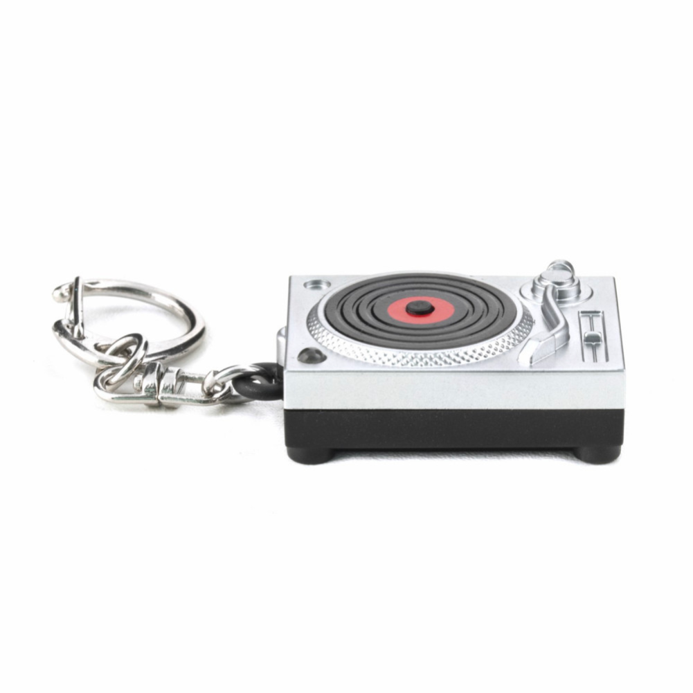Kikkerland Turntable LED Keychain