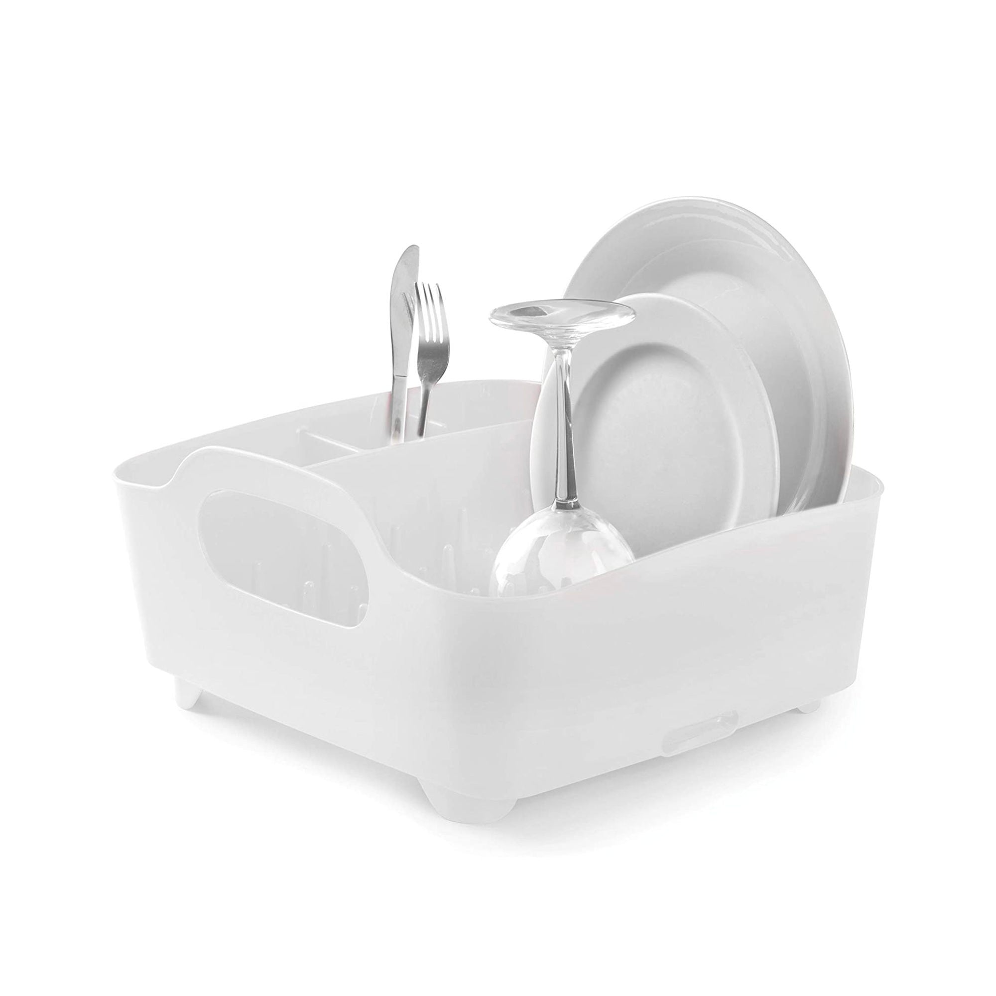Umbra Tub dish rack, white
