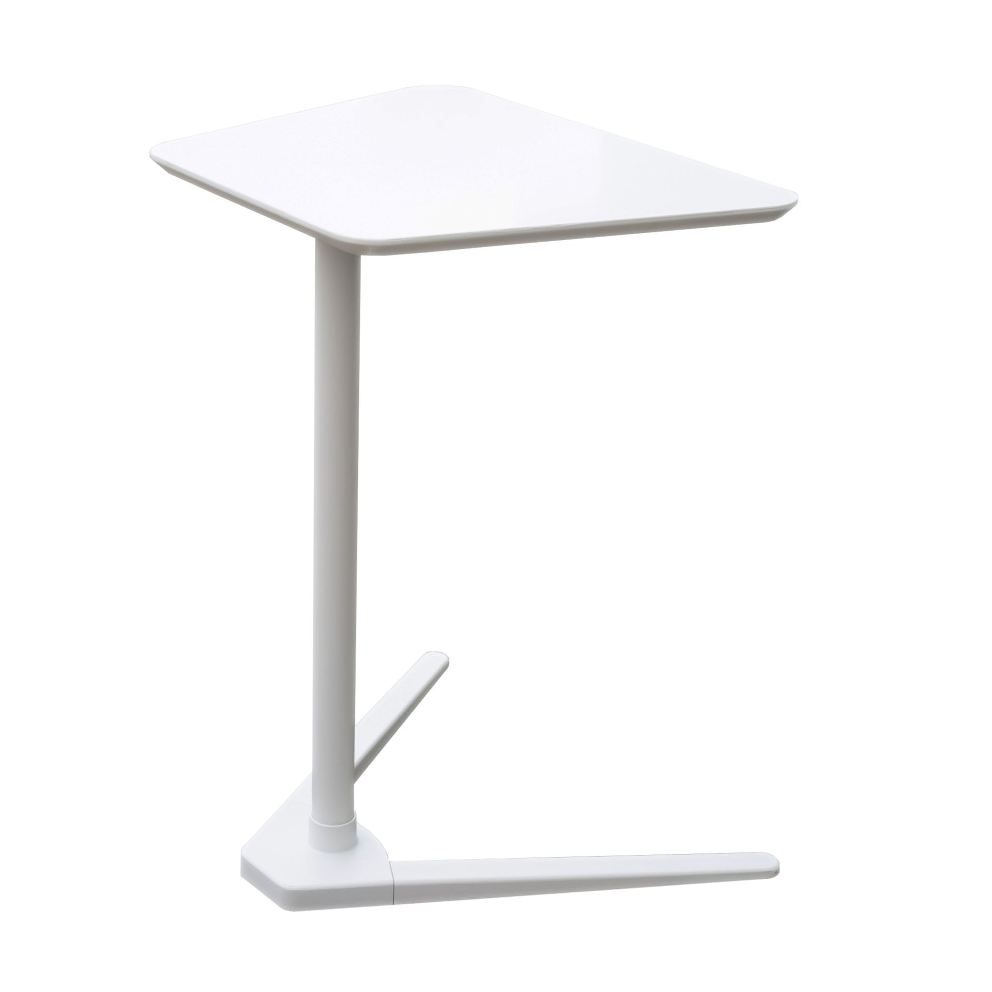 End Side Table , White