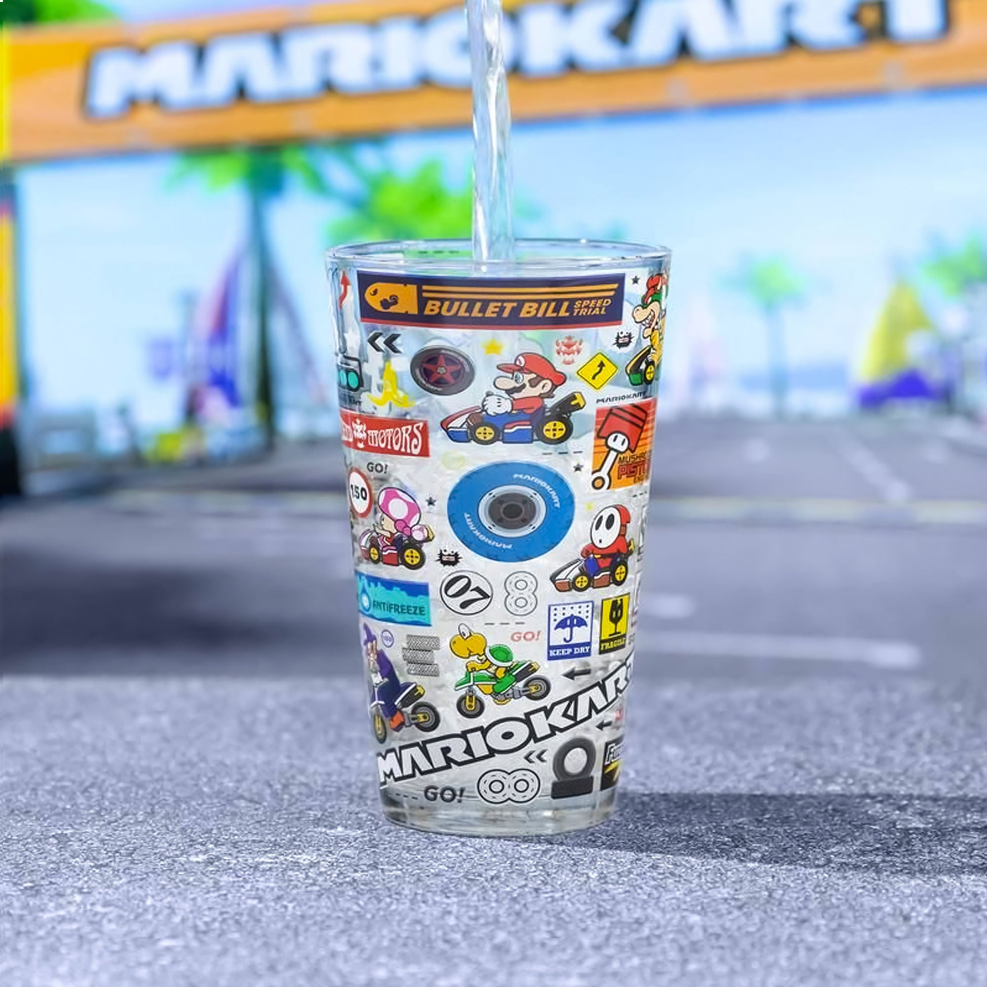 Paladone Mario Kart Glass (400ml)