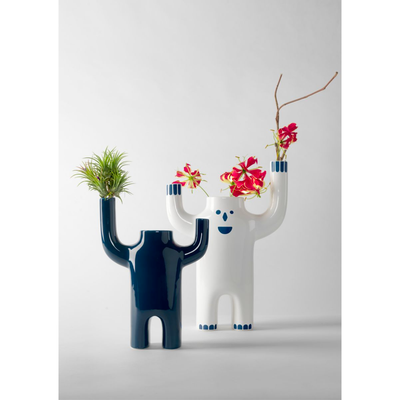 BD Barcelona Design Happy Susto vase, white, large, animated