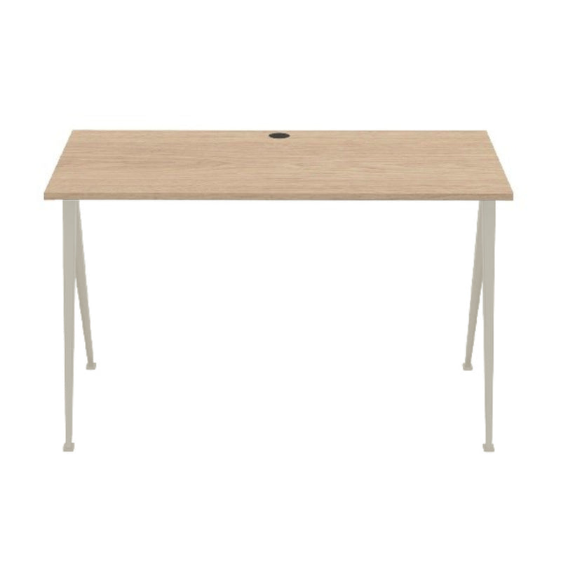 Hay Pyramid Desk 120x60 w. Cable Hole , Clear Lacquered Oak/Beige
