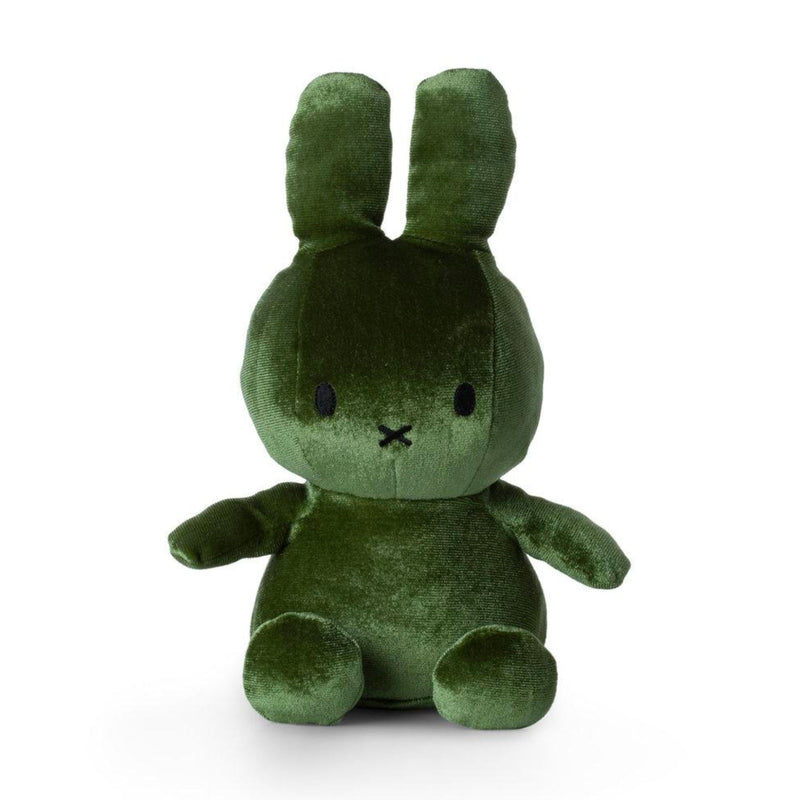 Miffy Sitting Velvetine Soft Toy 23cm , Moss Green