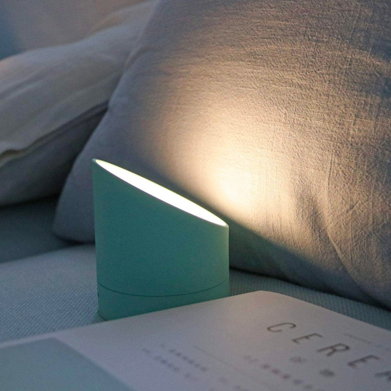 Gingko Edge alarm clock + night light, verde