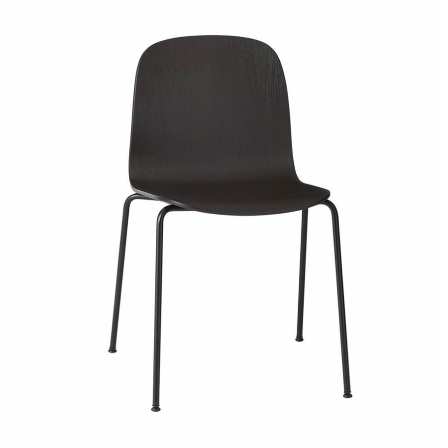 Tube Base Visu Chair . Black Black