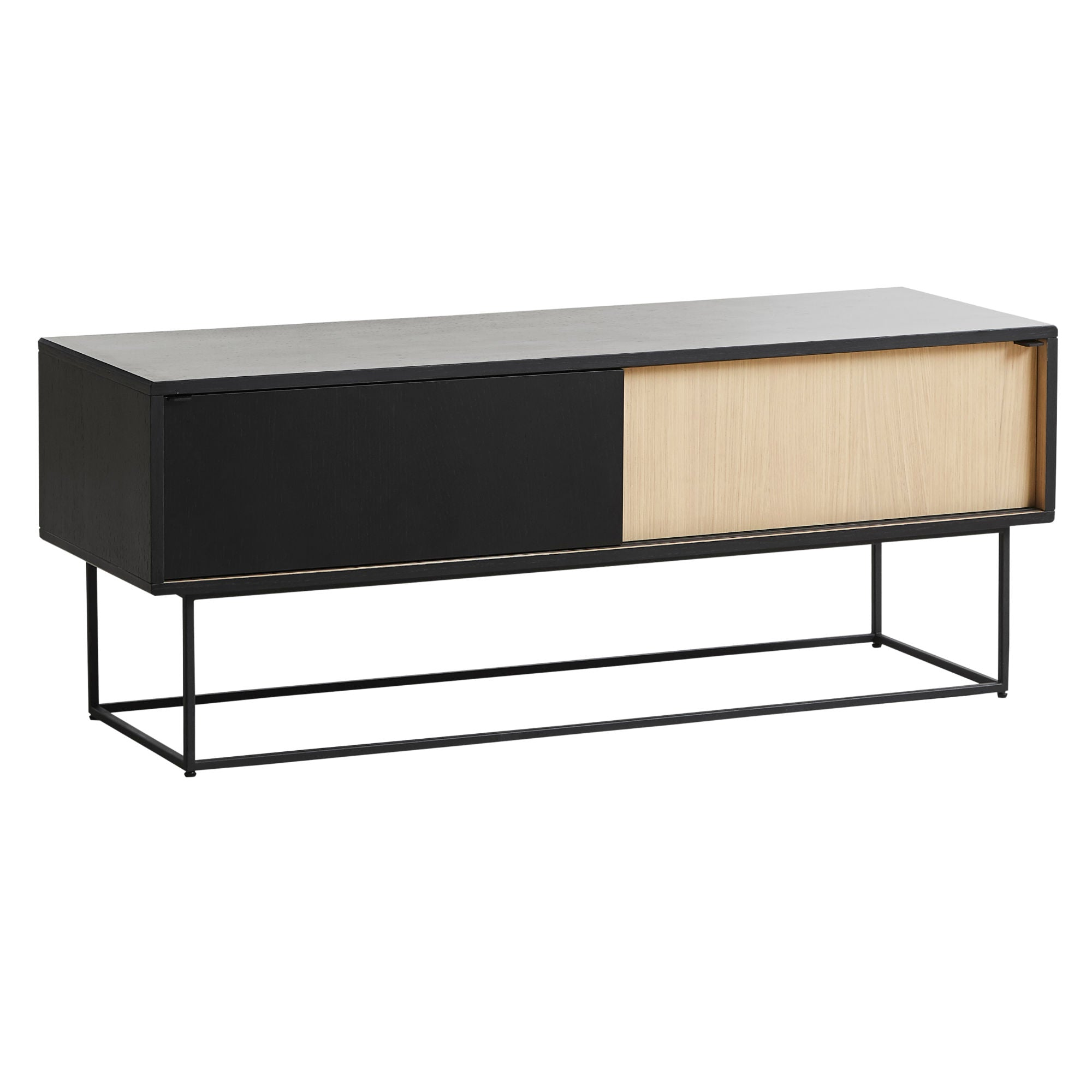 Woud Virka Low Sideboard , Black Painted-Oak