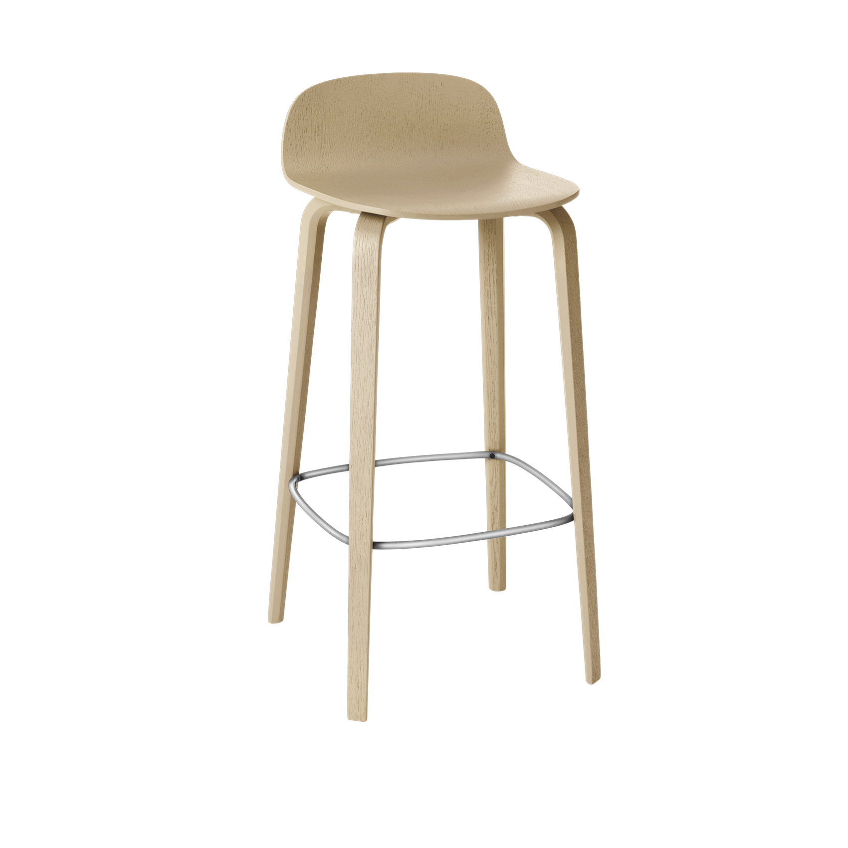 Muuto Visu Bar Stool Wood Legs . 75 cm