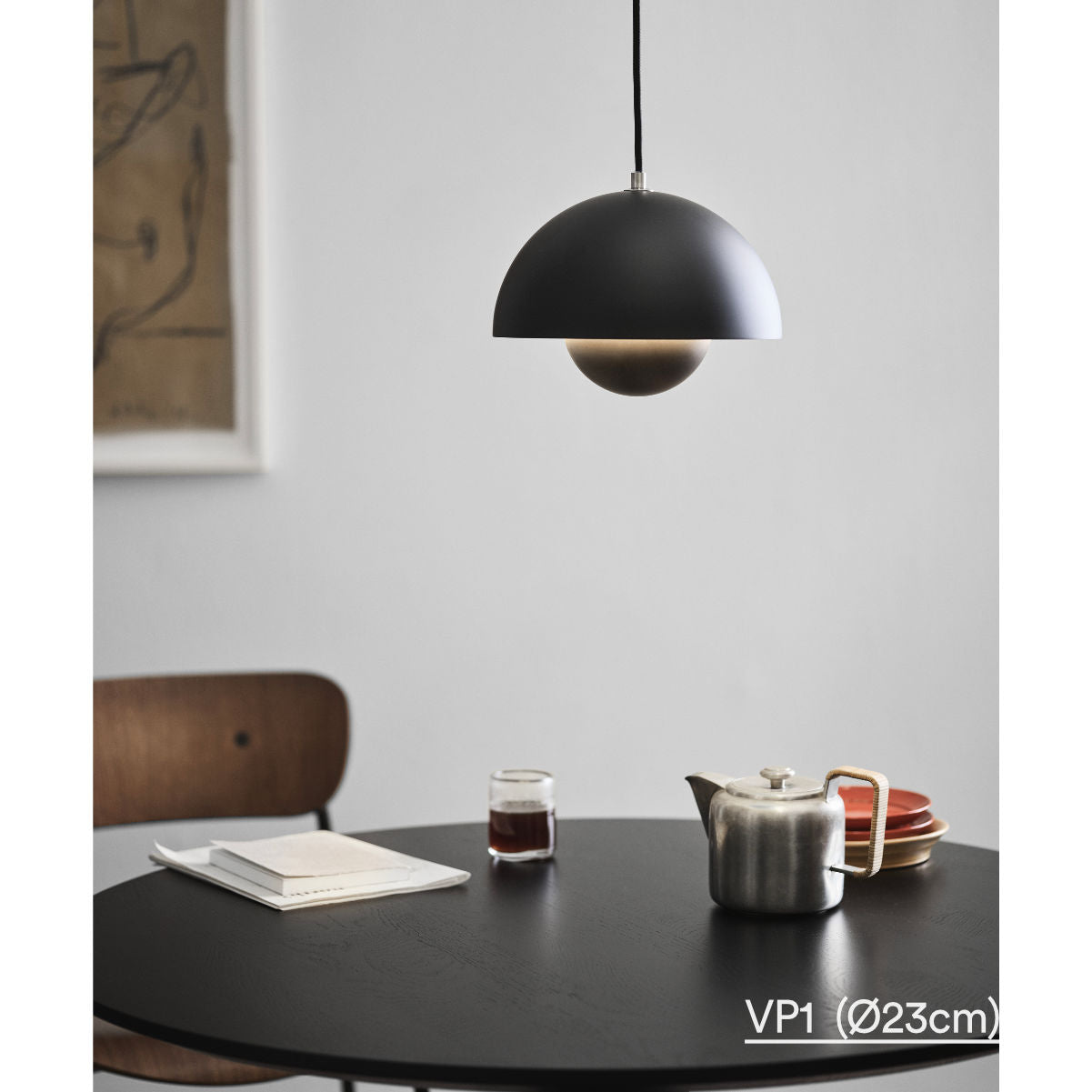 &Tradition Flowerpot pendant lamp, matt black