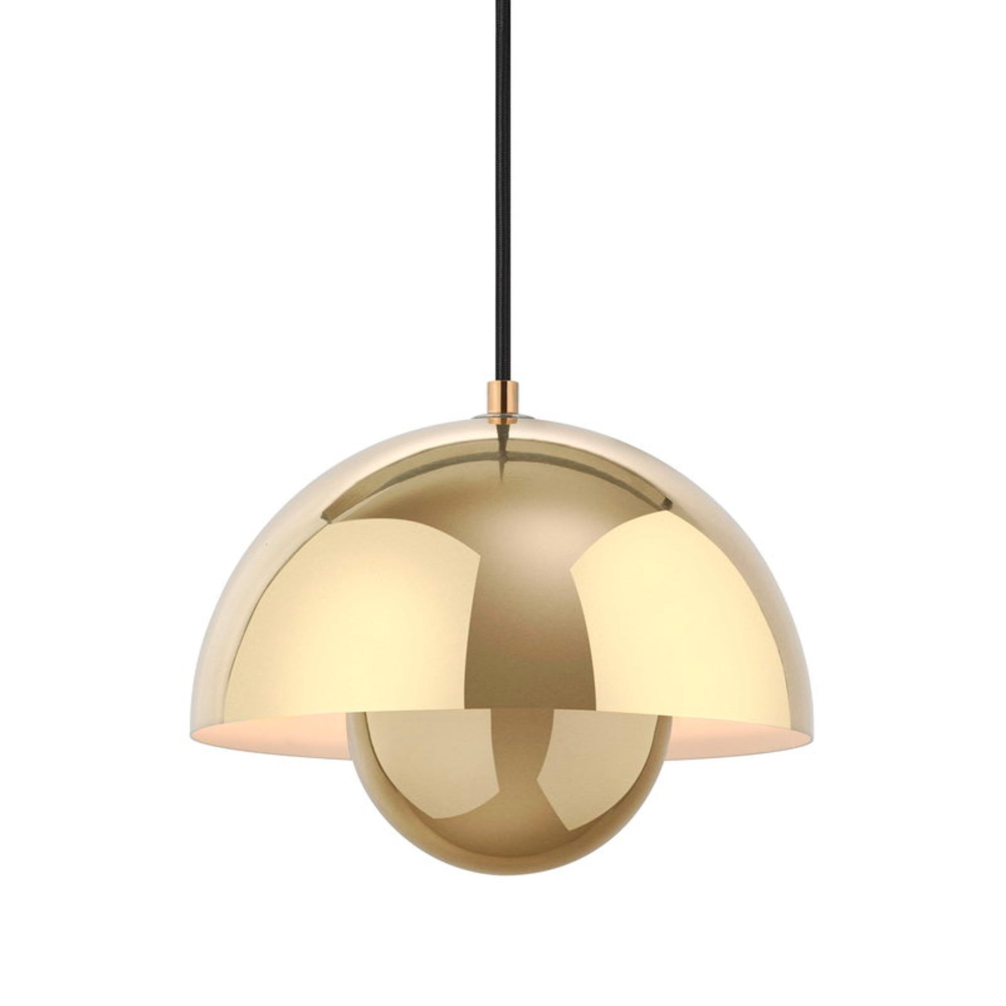 &Tradition Flowerpot pendant lamp, polished brass