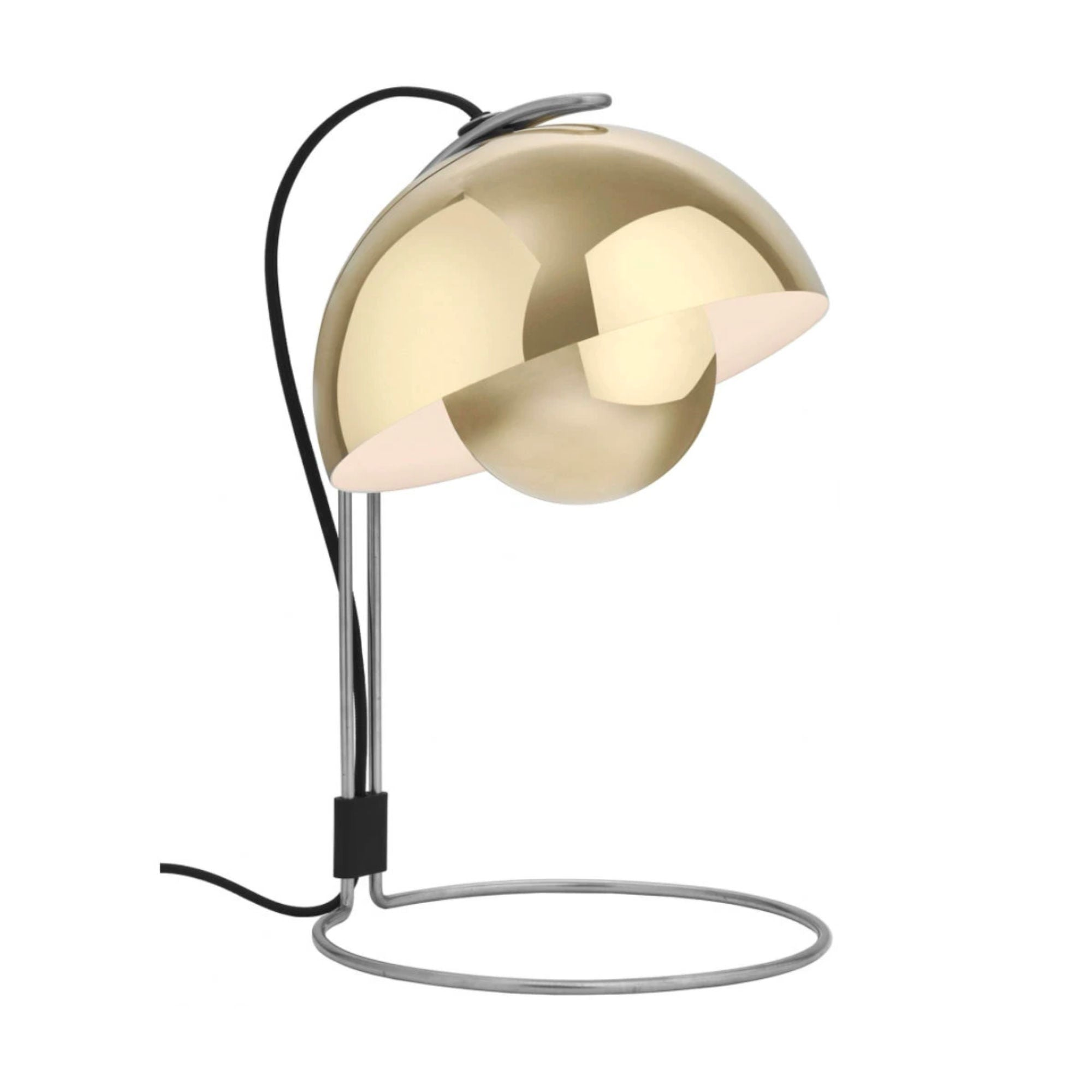 VP4 Flowerpot table lamp, polished brass