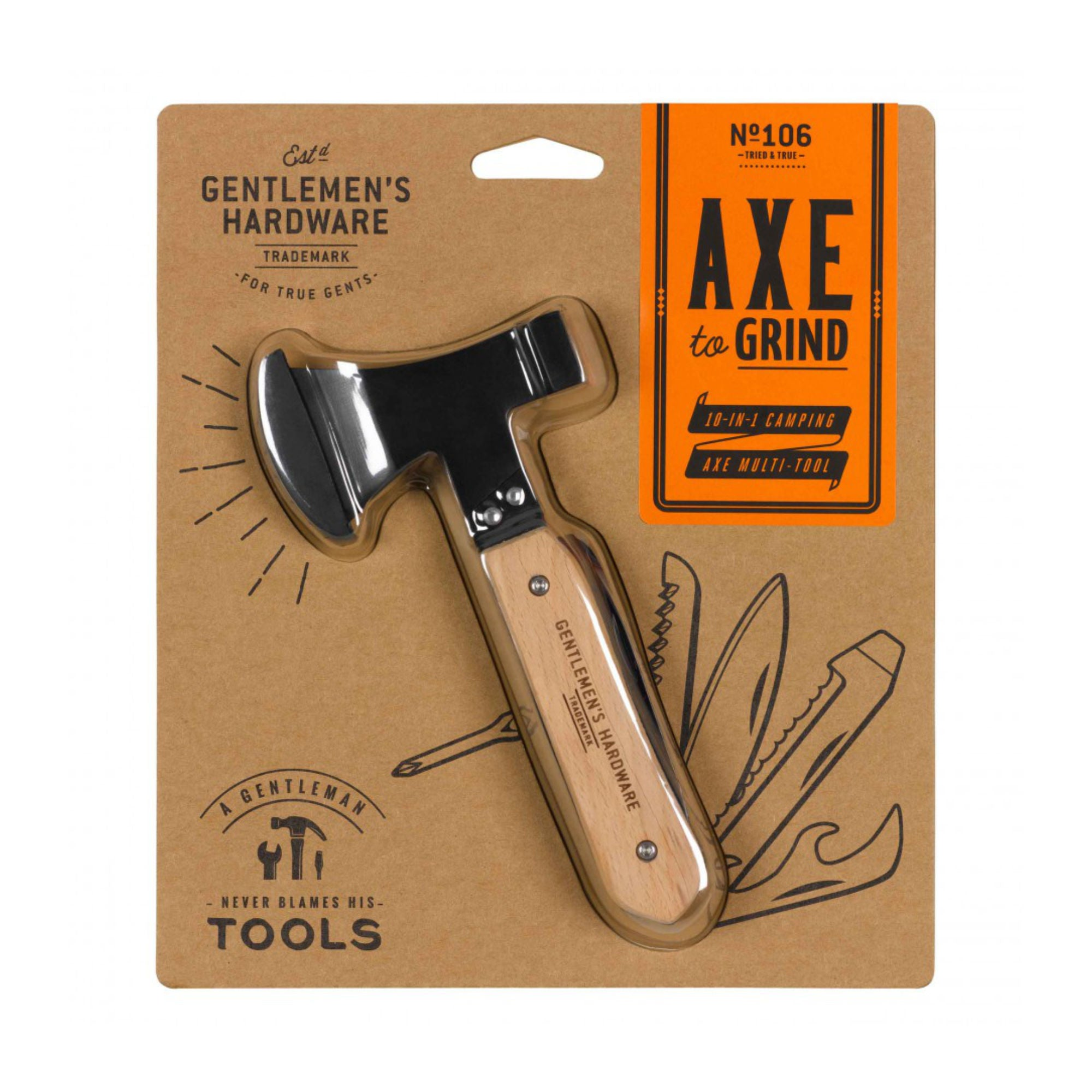 Gentlemen's Hardware Axe Multitool 10in1