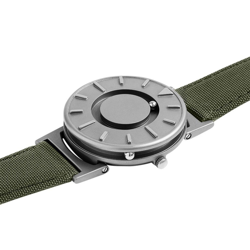 EOne Bradley Canvas Green Watch