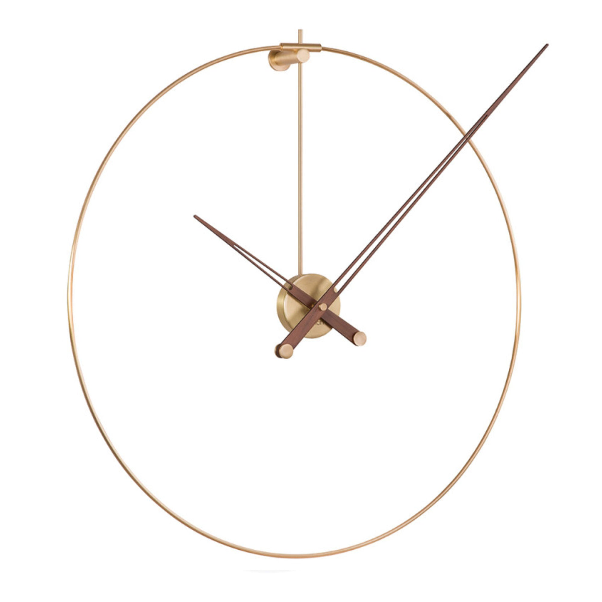 Nomon New Anda Wall Clock , Brass-Walnut