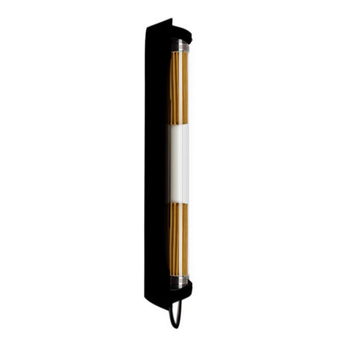 DCW In The Tube 360° Flap wall lamp, black - gold mesh