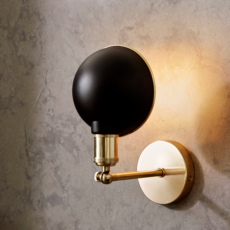Menu Tribeca Walker Wall Lamp , Black-Brass