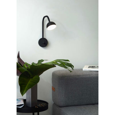 Northern Blush wall lamp, black