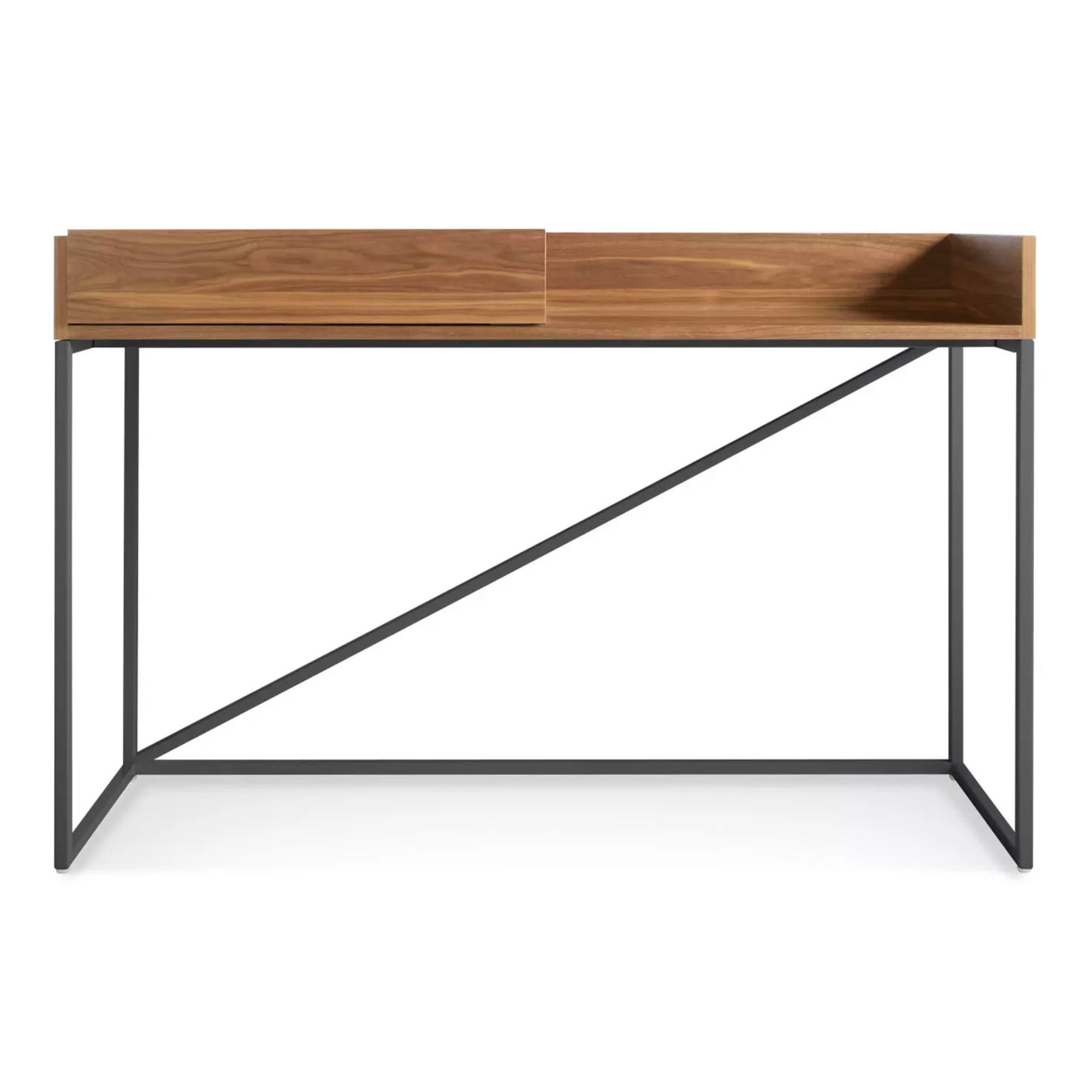 Blu Dot Swish console desk, walnut - matt slate