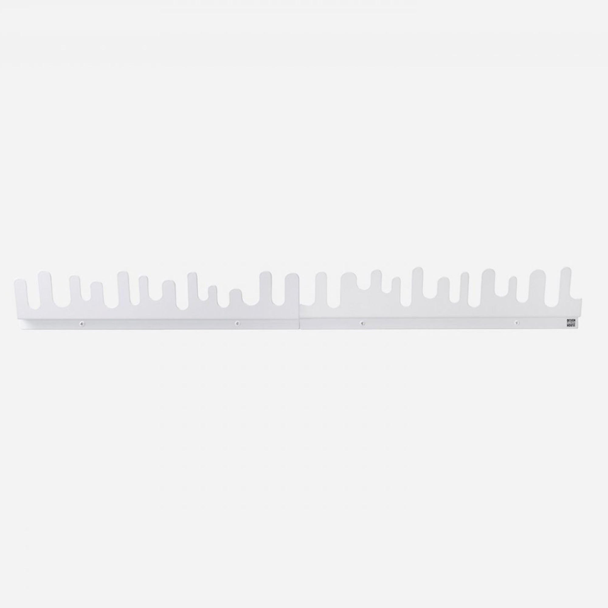 Design House Stockholm Wave Hanger, set of 2, white