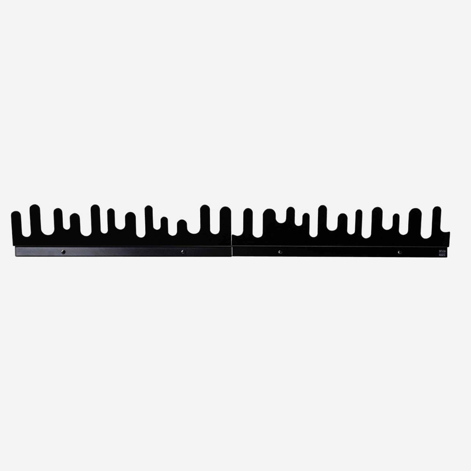Design House Stockholm Wave Hanger, set of 2, black