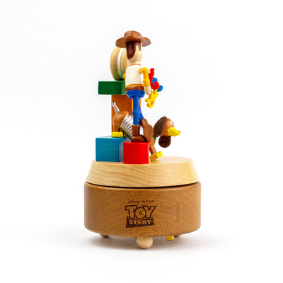 Wooderful Life wooden music box, woody & slinky dog