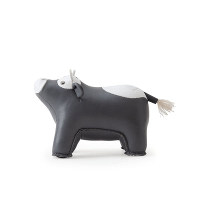 Zuny Calf Paperweight , DarkGery/White