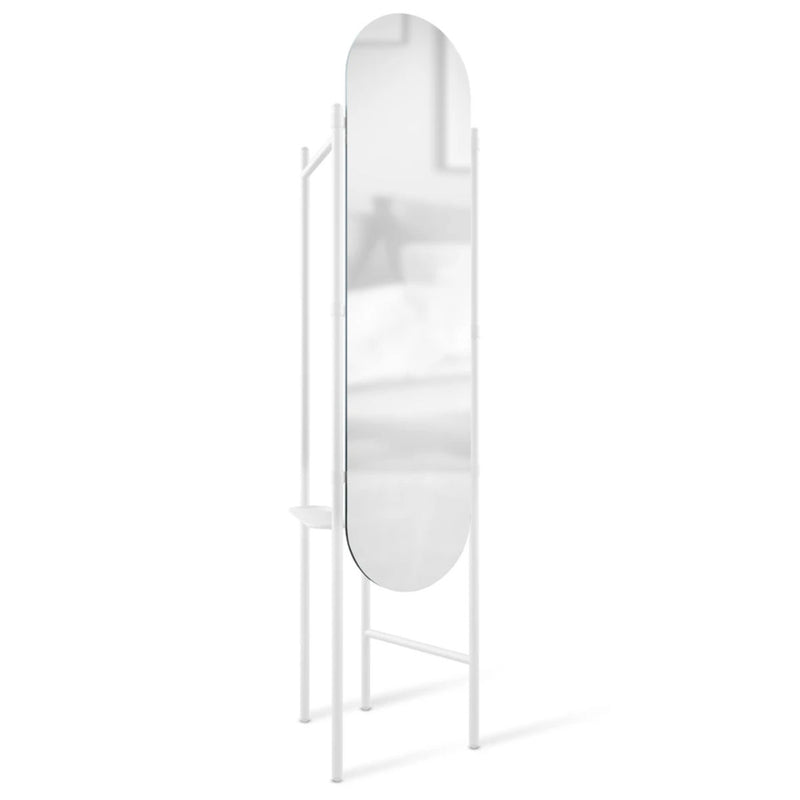 Umbra Vala floor mirror and hanger, white