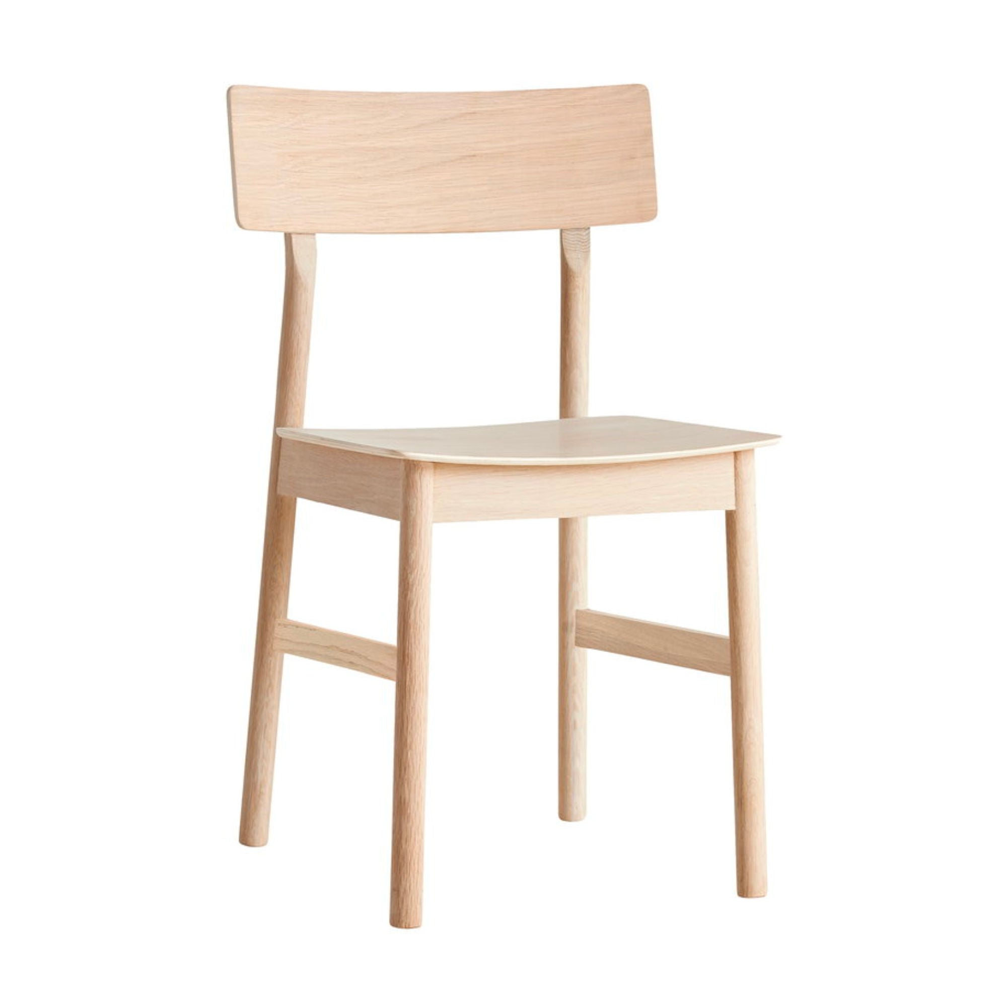 Woud Pause Dining Chair , White Pigmented Oak
