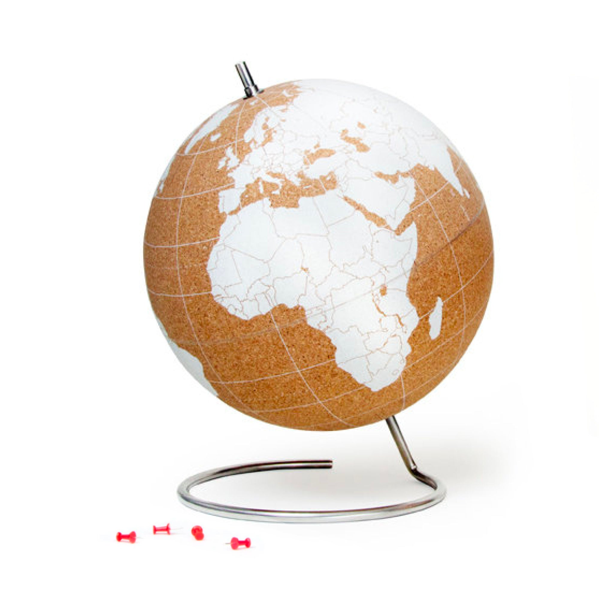 Suck UK Cork Globe Large , White