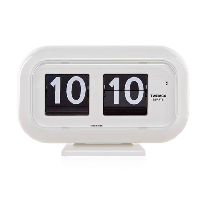 Twemco QT-35 Table/Wall Flip Clock, White