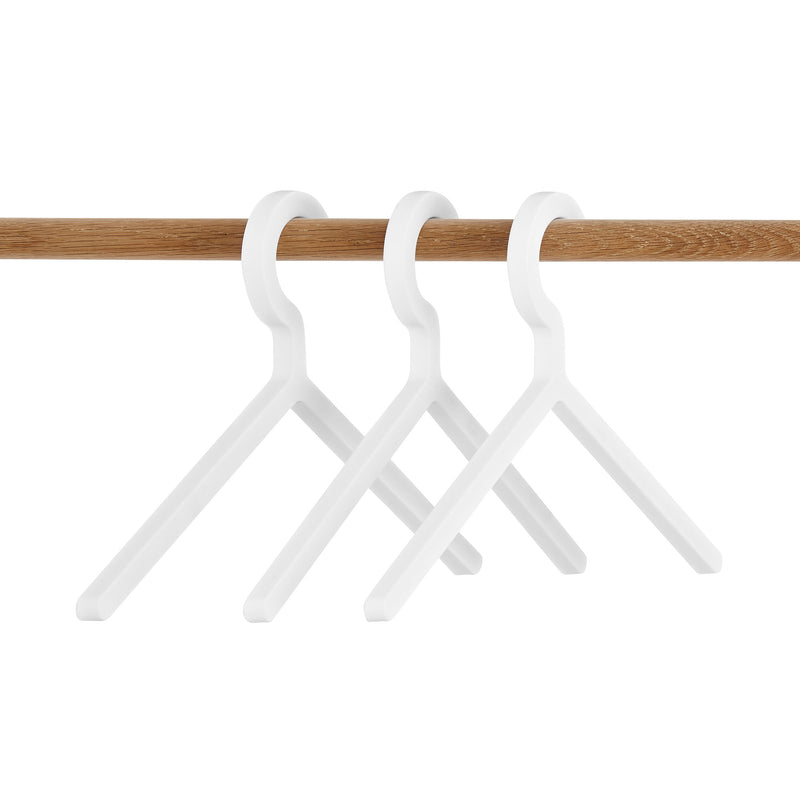Woud Illusion Hanger 3 Pcs , White
