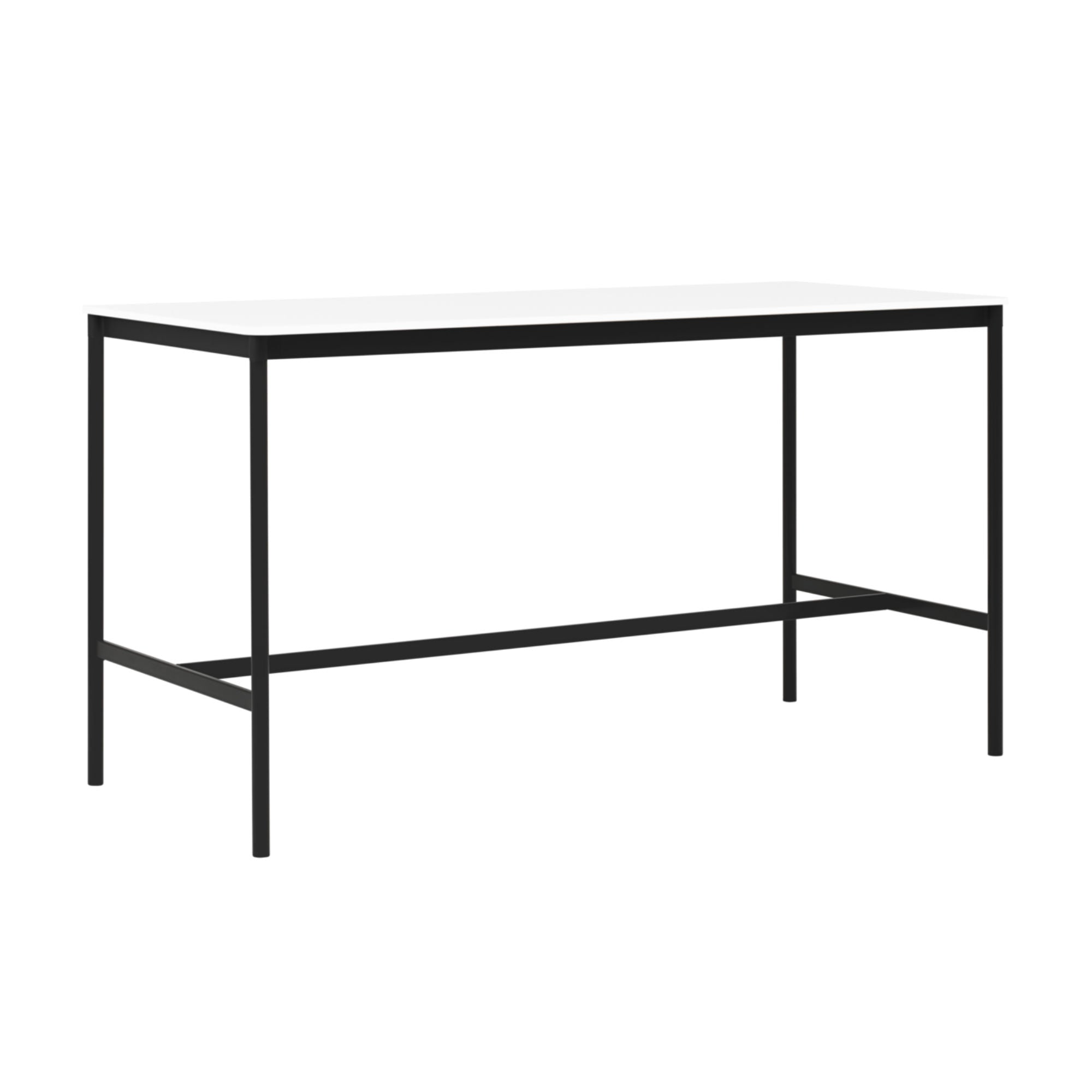 Muuto Base High Table 190x85 h:105cm , White Laminate/White ABS/Black