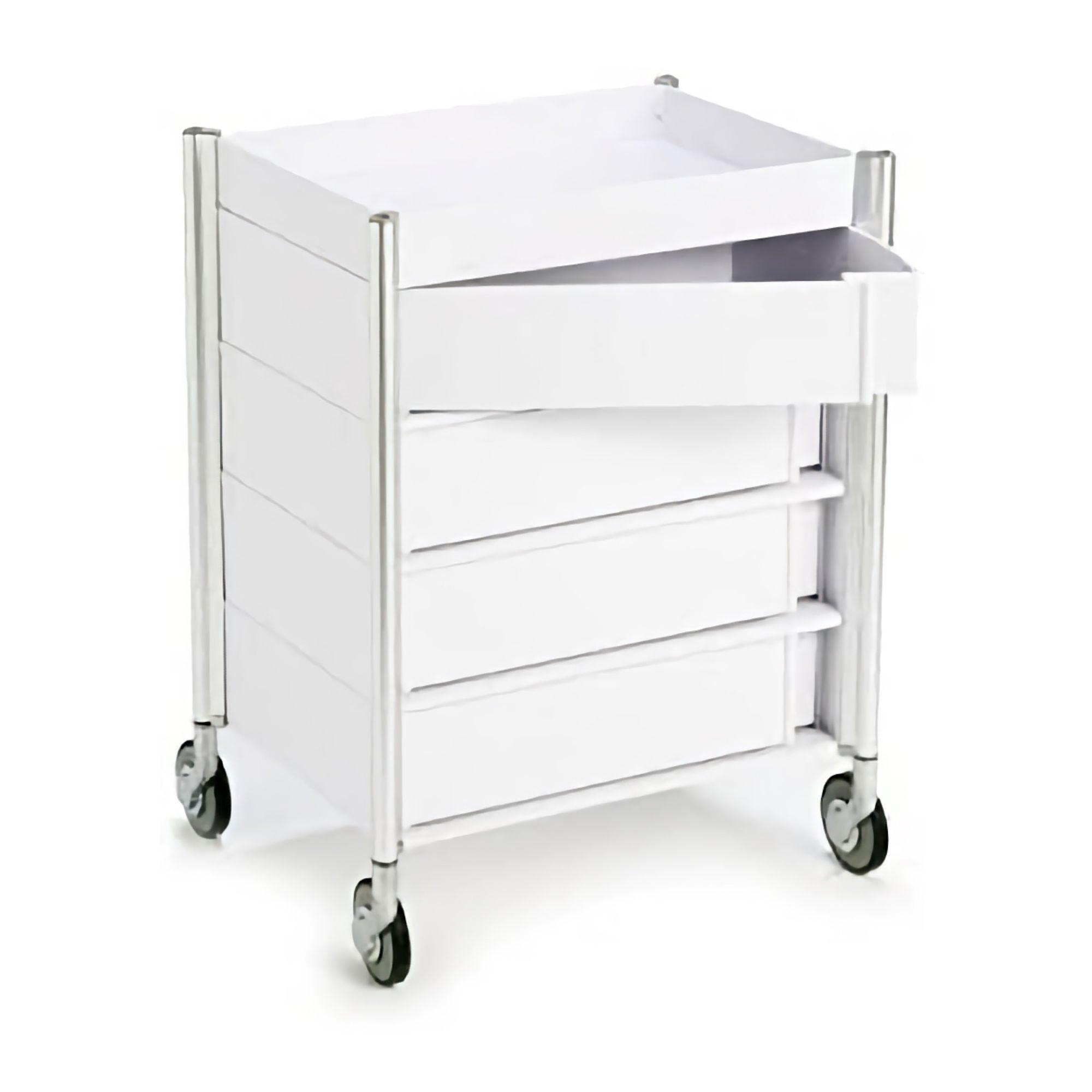 Studio Domo Ally Mid Trolley w. 4 Drawers , White