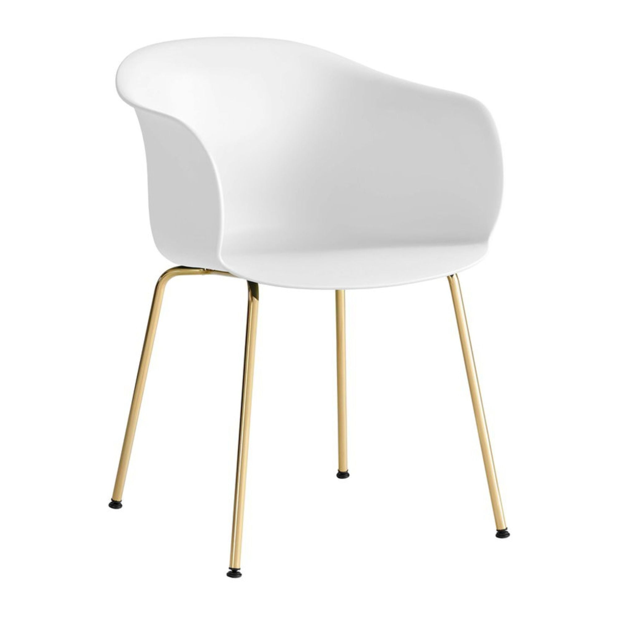 &Tradition JH28 Elefy Chair , White - Brass