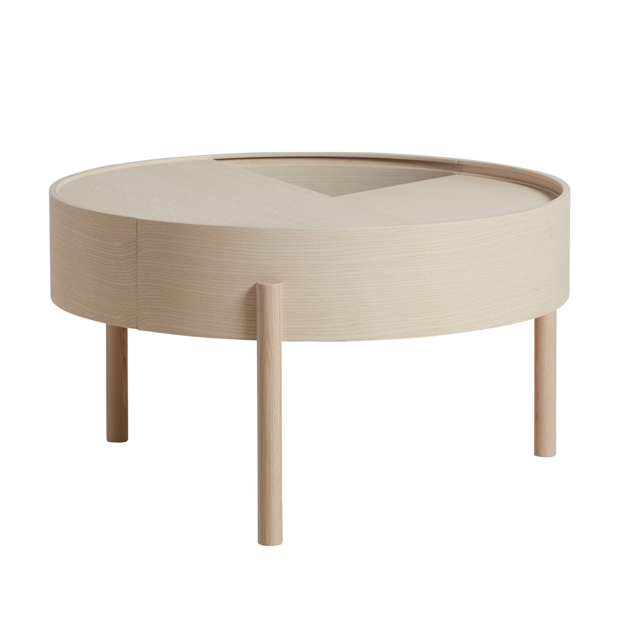 Woud Arc Coffee Table , White Pigmented Ash