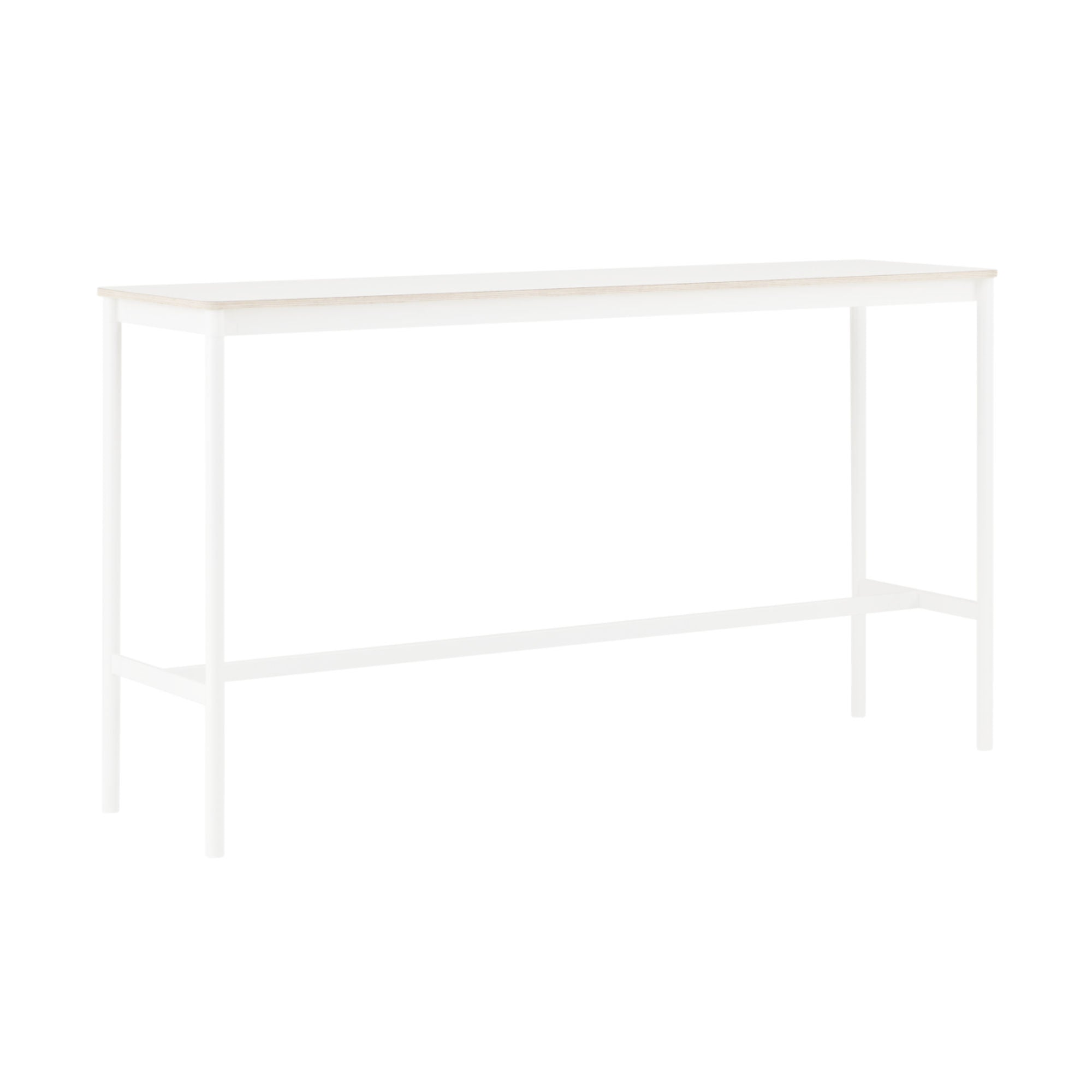 Muuto Base High Table 190x50 h:105cm , White Laminate/Plywood/White