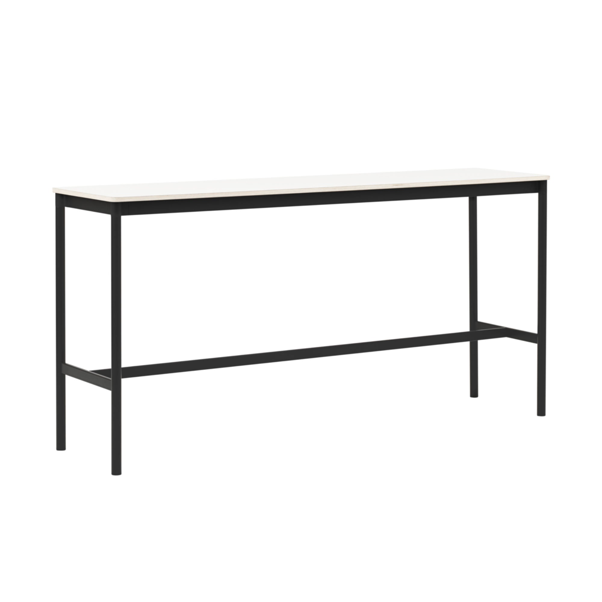 Muuto Base High Table 190x50 h:95cm , White Laminate/Plywood/ Black