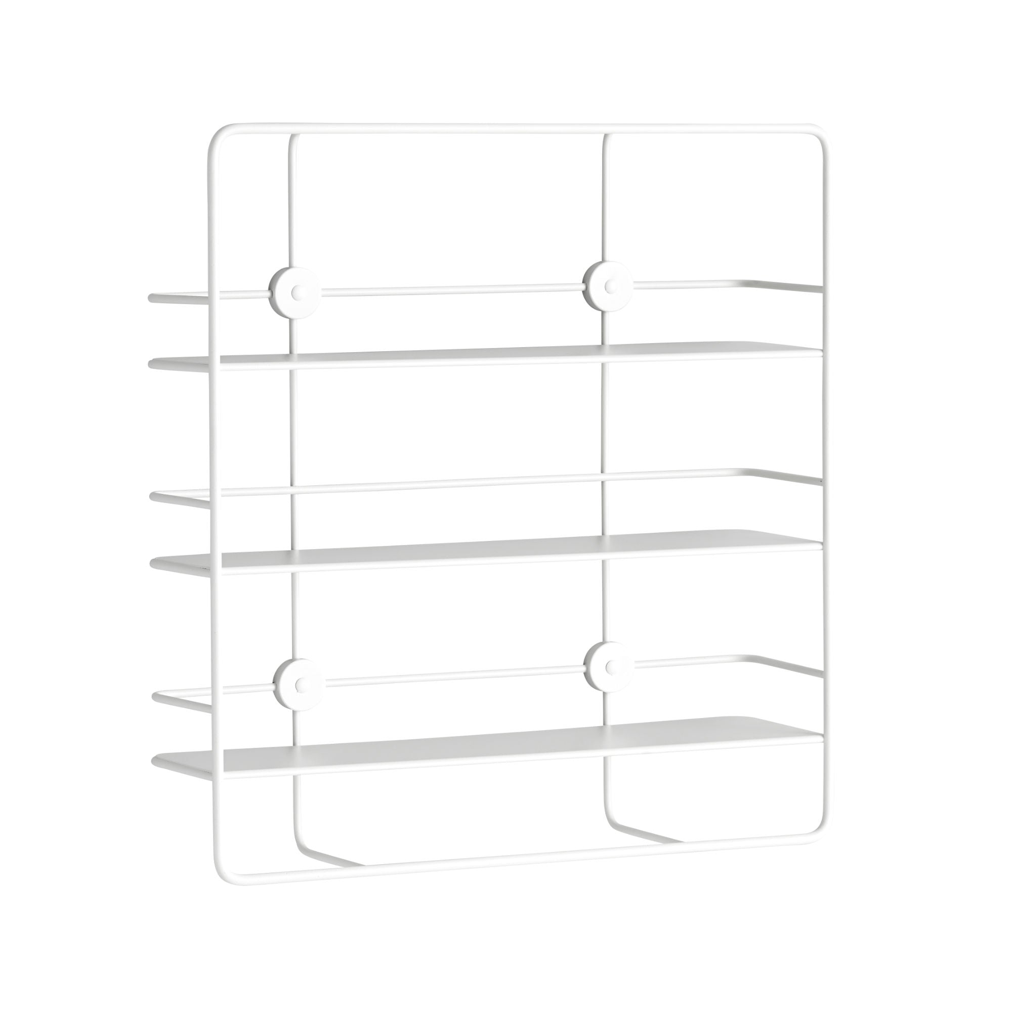 Woud Coupe Shelf Rectangular , White