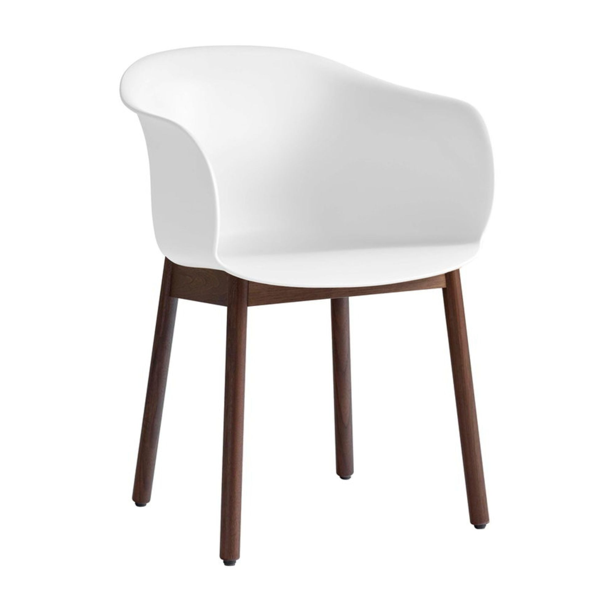&Tradition JH30 Elefy Chair , White - Walnut
