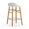 Normann Copenhagen Form Counter Stool, White/Oak Leg (65 cm)